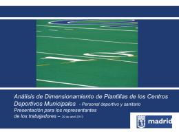 propuesta sobre personal deportivo y sanitario 9.05.13