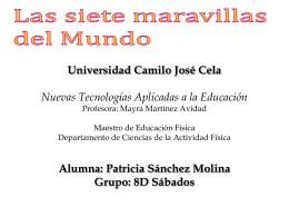 WEBQUEST LAS SIETE MARAVILLAS DEL MUNDO