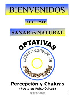 Percepción y Chakras - Proyecto: Sanar es Natural