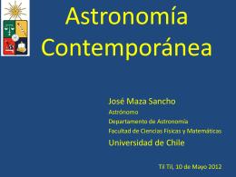 Clase No. 1  - Departamento de Astronomía