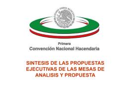 conclusiones de las siete mesas de Análisis y Propuestas