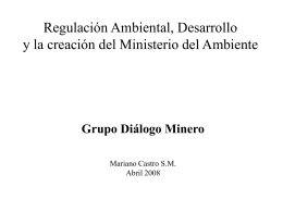 PPT - Grupo de Diálogo, Minería y Desarrollo Sostenible