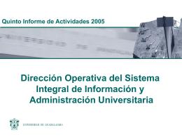 11. Dirección Operativa del Sistema Integral de Información y