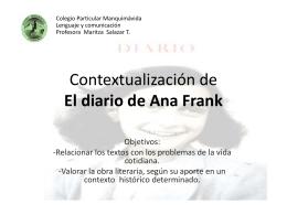 Contex. Ana Frank - Blog de Lenguaje y Comunicación