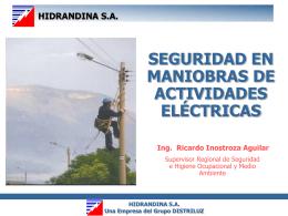 HIDRANDINA SA Una Empresa del Grupo DISTRILUZ