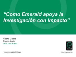 Cómo Emerald apoya la investigación con impacto