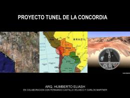proyecto tunel de la concordia