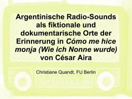 PowerPoint-Präsentation - Studienkreis Rundfunk und Geschichte