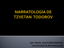 Tzvetan Todorov`s Narratology