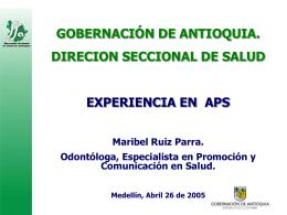 05. Experiencia en APS