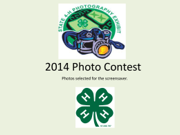 2014 Photo Contest Slideshow
