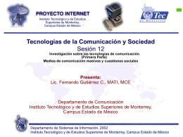 Sesión 12 - Fernando Gutiérrez :: Tecnología y Sociedad