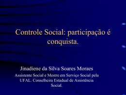Controle Social:participação é conquista