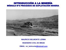 9. Clase 6 Procesos Explotación Minera, Parte 3 - PPT
