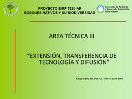 proyecto birf 7520-ar bosques nativos y su biodiversidad gracias
