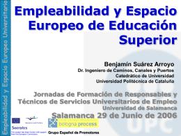 Empleabilidad y Espacio Europeo de Educación Superior.