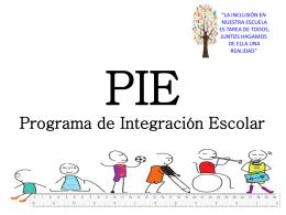 PIE Programa de Integración Escolar