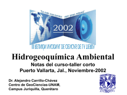 Fundamentos de Hidrogeoquímica - Centro de Geociencias ::.. UNAM