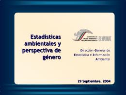 Sistemas de estadísticas ambientales