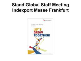 Stand GSM - Indexport Messe Frankfurt Materiales de Difusión
