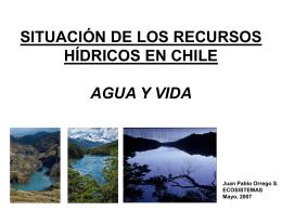 Situación de agua en Chile