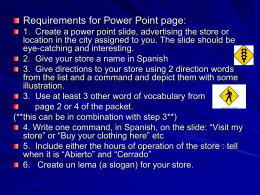 Project - Power Point Slide