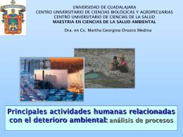 Deterioro ambiental - Maestría en Ciencias de la Salud Ambiental