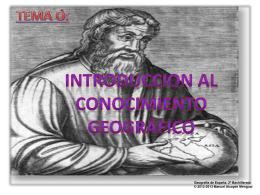 tema 0: introdución al conocimiento geográfico - Historia