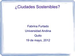 Ciudades Sostenibles - Estudios Ecologistas