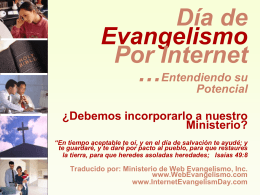 Internet Evangelism Day - why should we have one?