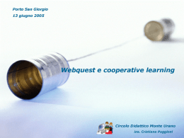 Web quest e cooperative learning