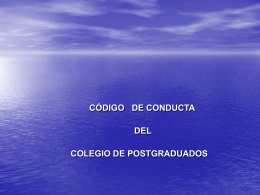 CODIGOPAGINACP - Colegio de Postgraduados