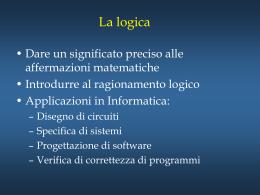 Slide 1 - Dipartimento di Informatica