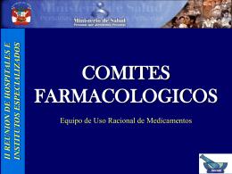Comités Farmacológicos - Digemid