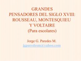Rousseau, Montesquieu