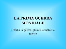 """LA PRIMA GUERRA MONDIALE - ISIS """"Vincenzo Manzini"""""""