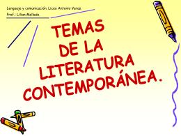 Temas y rasgos propios de la literatura