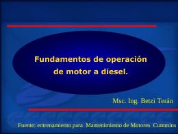 Motor Diesel - tmaquinasgeneracion