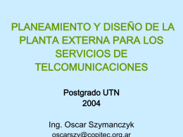 Postgrado UTN 3 - Componentes de Planta