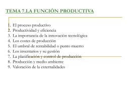La función productiva