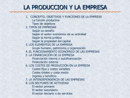 los costes de produccion en las empresas