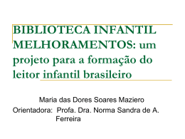 BIBLIOTECA INFANTIL MELHORAMENTOS