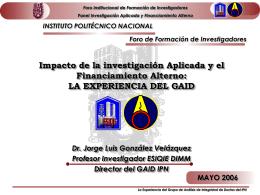 Ponencia_Jorge_Gonzalez - Instituto Politécnico Nacional