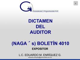 dictamen - Auditoría - GVA Consultoría y Capacitación S. C.