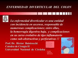 diverticulosis colonica