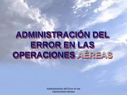 administración del error en las operaciones