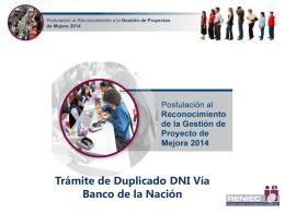 Trámite de Duplicado DNI Vía Banco de la Nación