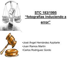 """STC 183/1995 """"fotografías induciendo a error"""""""