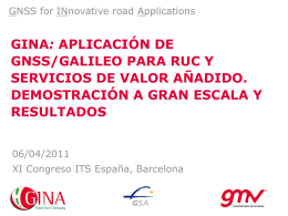 resultados - GINA - GNSS for INnovative road Applications