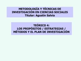TEÓRICO 4 - Metodología y Técnicas de Investigación Social